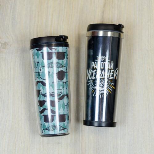 Термокружки с металлической и пластиковой колбой