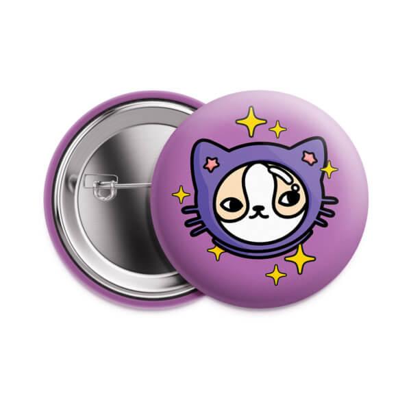Значок «Космический кот» 37 мм