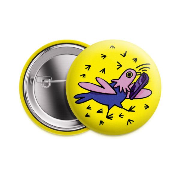 Значок «Занятой голубь» 37 мм